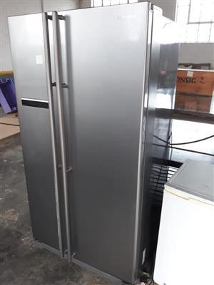 Silver Samsung double door fridge for sale
