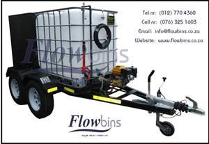 NEW 600- 2500Lt 178 Bar Mobile Pressure Washer Trailers with Papers from R 27 200