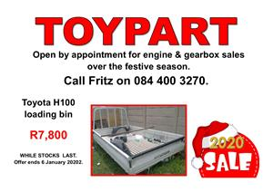 H100 Loading bin & other parts - TOYPART SA
