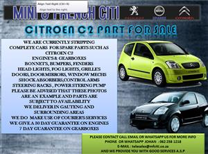 USED PARTS ON CITROEN C2 FOR SALE