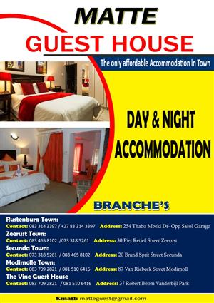 Contractors Accommodation available