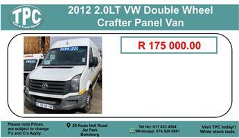 2012 2.0LT Vw Double Wheel Crafter Panel Van For Sale.