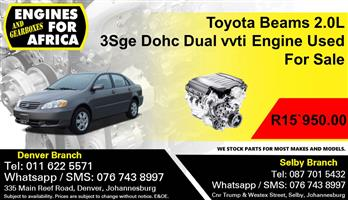 Toyota Beams 2.0L 3Sge Dohc Dual vvti Engine Used For Sale.