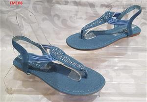 Blue studded sandals for sale