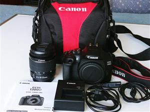 Canon 1300D wifi and NFC Camera with zoom lens for sale