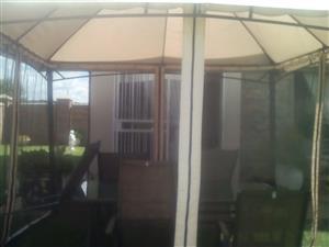 Gazebo with curtains 3 metres x 3meters x 3 metres high