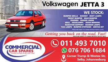 New VW Jetta 3 Body Parts And Spares For Sale At Car Spares