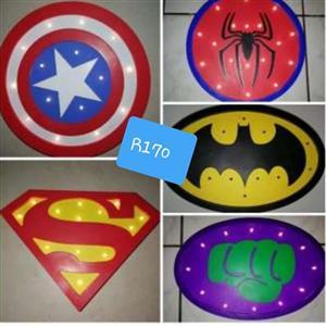 Superhero bar lights