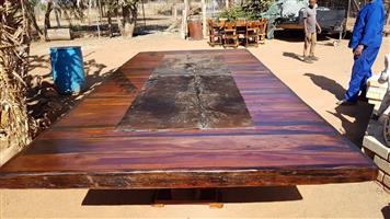 Solid Wood boardroom table