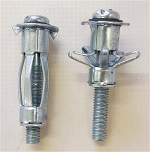 Dry Wall Anchor Toggle Flairing Cavity Bolts New.