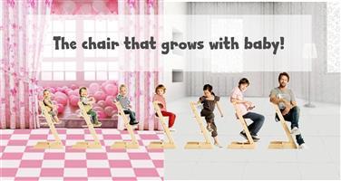 Royal High Chair – Beech / Teak