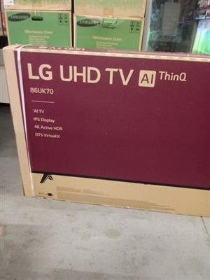 """86"""" LG UHD TV for sale"""
