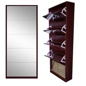 Dark wooden shelf cabinet