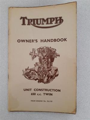 Triumph - Owners Handbook - Unit Construction 650 cc Twin.