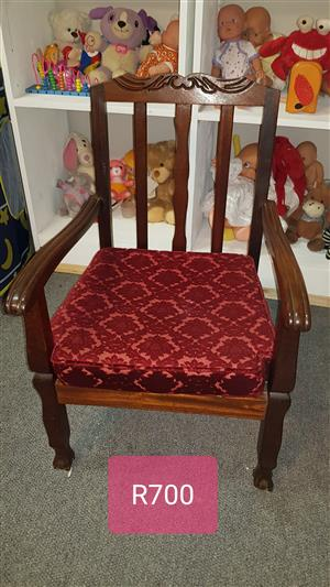 Antique Chair with pillow