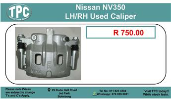 Nissan NV350 LH/RH Used Caliper For Sale.