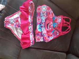 Pink kiddies 2 piece swimsuit for sale