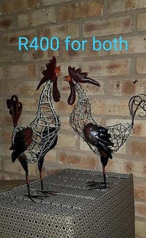 Wire rooster ornaments for sale
