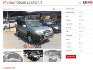 2007 Hyundai Tucson 2.0CRDi Elite