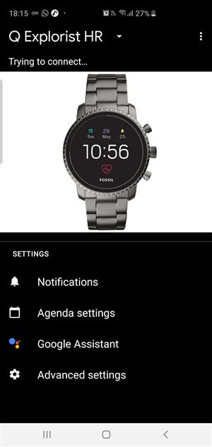 Fossil smartwatch, new, unwanted gift