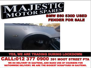 Bmw e60 530d used driver side fender front for sale