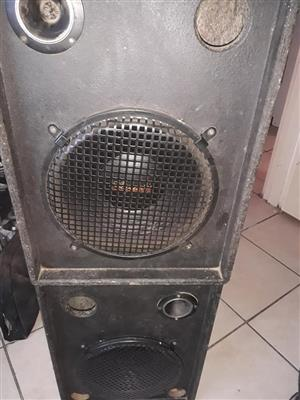 2 passive acoustic speakers for sale.