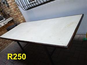 Large white top table