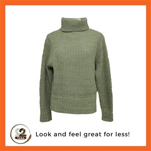 Visit 2nd Take today for this green Kelso polo neck perfect for cold days.