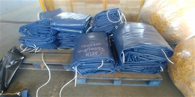 9m x 9m heavy duty truck tarpaulins and cargo nets for super-link and tri_axle readily available