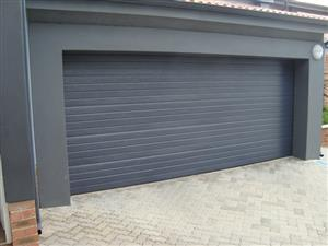 Single and double aluzinc sectional doors in Alexandra