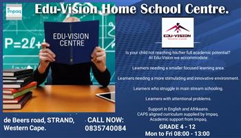 Cottage school in Strand. Edu-Vision Home School Centre.