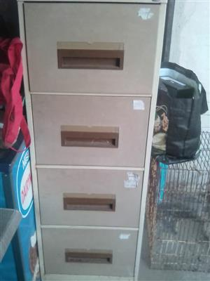 A steel cabinet