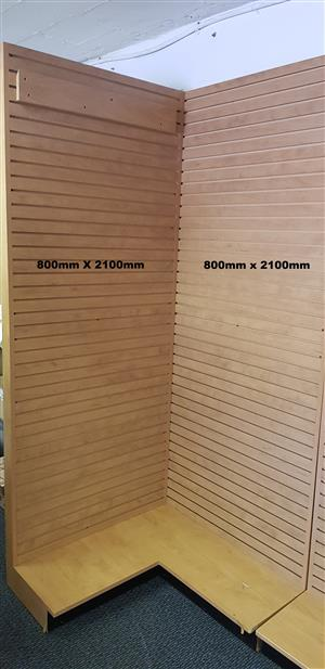 Shop fittings - Slat wall Corner unit