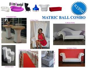Matric Ball Specials / Matric Ball Furniture / R1950