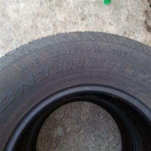 Continental 255/70R16 tyres