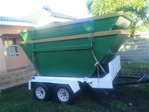 HURRY COMBO OF 10 2M  SKIP BINS WITH SKIP TRAILER MANUFACTURRE CALL 0635408390/0119141035