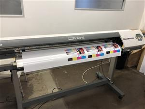 START YOUR OWN PRINTING BUSINESS WITH THE ROLAND VP540 PRINT AND CUT MACHINE
