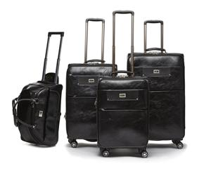 4 Piece PU Leather Vintage Trolley Luggage Bag Set, used for sale  Midrand