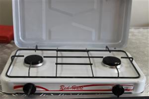 Red Hart 2 plate gas stove white no pipe S031548A #Rosettenvillepawnshop