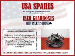 CHRYSLER SEBRING USED GEARBOXES FOR SALE