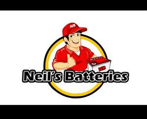 I sell brand new car, truck, bike and solar batteries, and I buy any scrap lead batteries