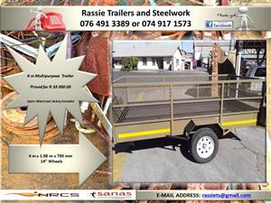 4 m Multipurpose Trailer for sale NRCS approved
