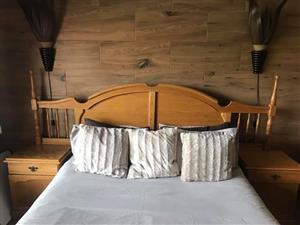 Solid Oak wood bedroom suite for sale