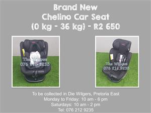 Brand New Chelino 360 Spin Car Seat with Isofix (0 kg - 36 kg)