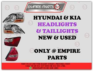 HYUNDAI / KIA – *HEADLIGHTS and TAILLIGHTS* NEW and USED