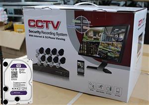CCTV Security Recording System (8x Cameras)