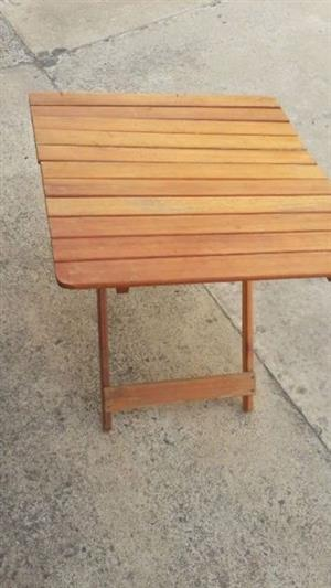 Table hardwood Fold Up