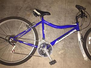 Blue bicycle for sale