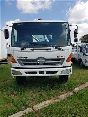 2007 Hino 15-257 dropside fitted with a cab mounted Pesci SE180 Crane. Mileage is 251103km on the clo
