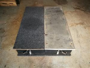 Sliding drawer system swap for Trailer or Roof Top Tent.